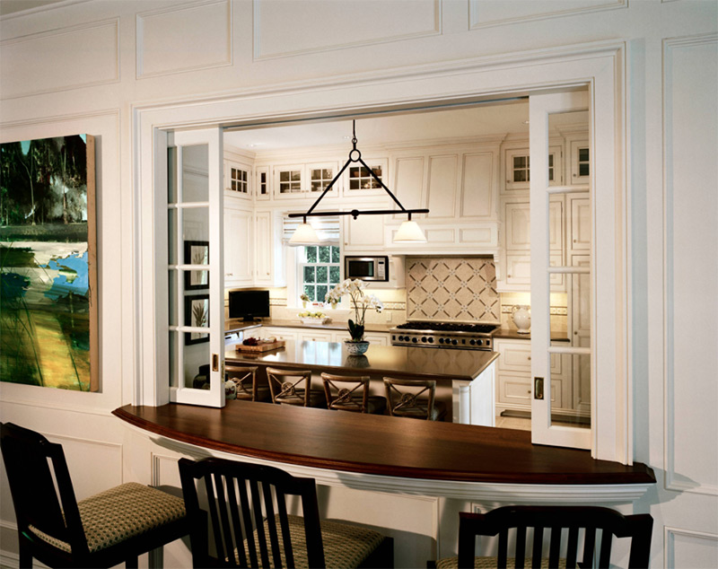 Kitchen To Dining Room Pass Through Ideas Part - 49: Colonial Style Kitchen With Passthrough
