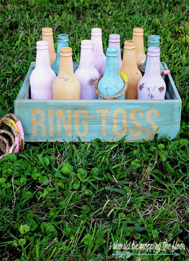 vintage bottle ring toss