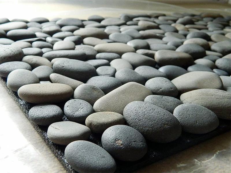stone pebble mat