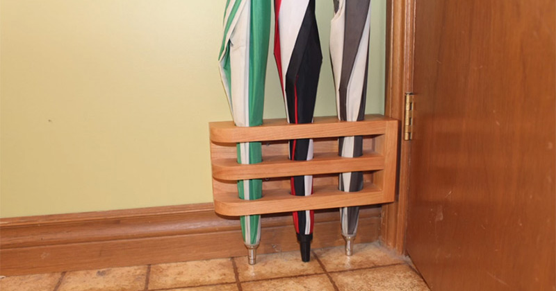 Custom Wooden Umbrella Stand