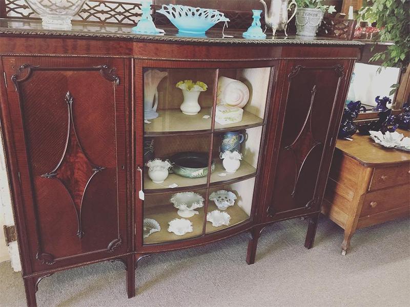 Dark Sideboard Curio Cabinet