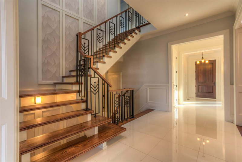 Toronto staircase l-shaped open stairs
