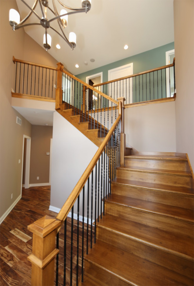 Darkwood staircase l-shaped design