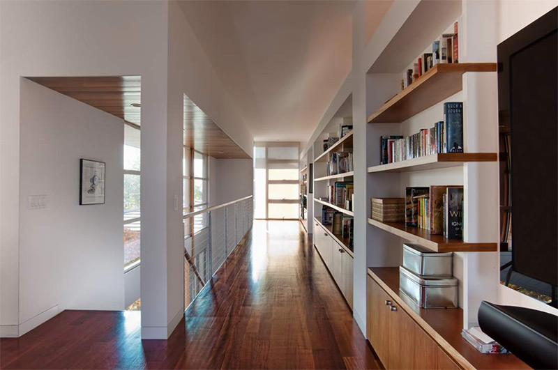 darkwood upstairs hallway simple design