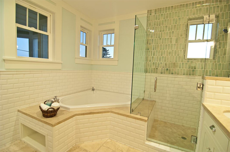 18 Design Ideas For Bathrooms With Corner Tubs - Full Home Living