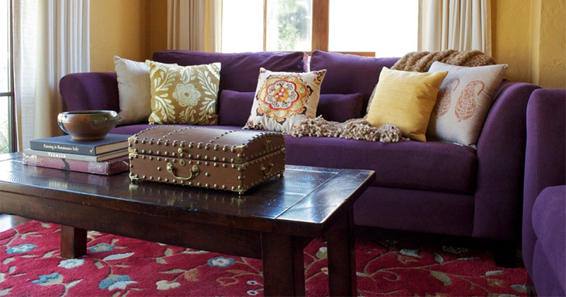 Charmant Featured Purple Sofa Design