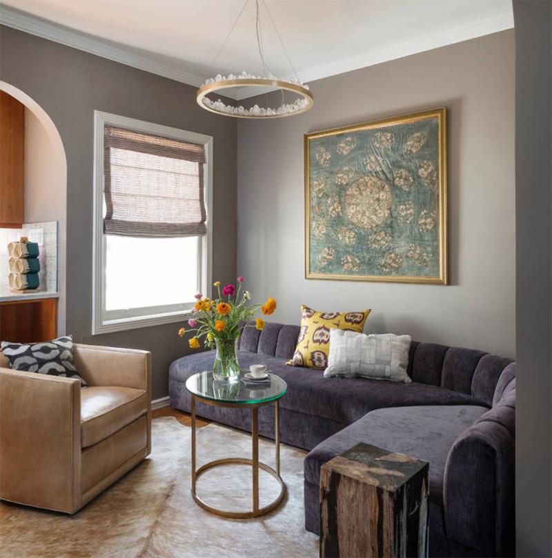 Bay Area Purple Living Room Sofa