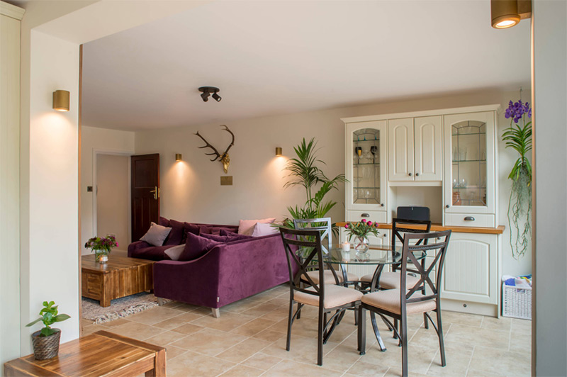 UK purple sofa interior design