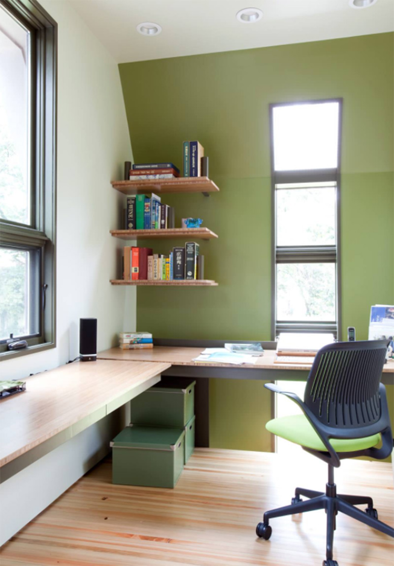 Corner Office With Bright Walls