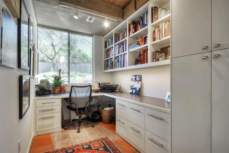 Contemporary home office corner desk