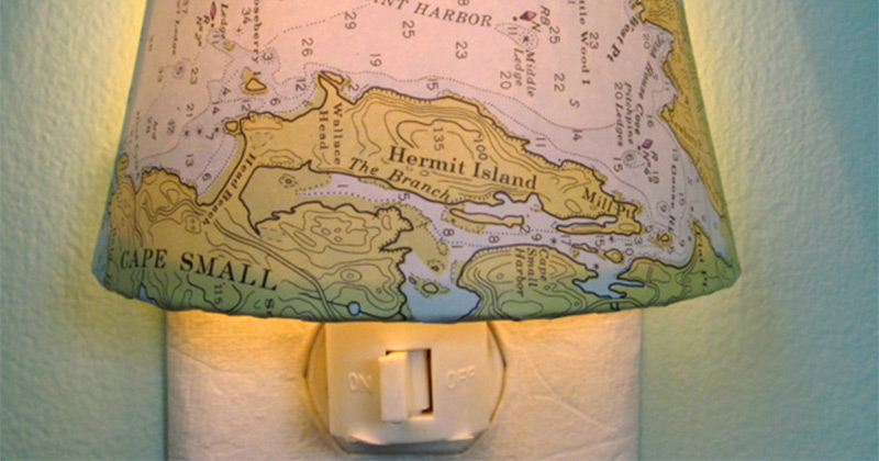 Maine map nightlight