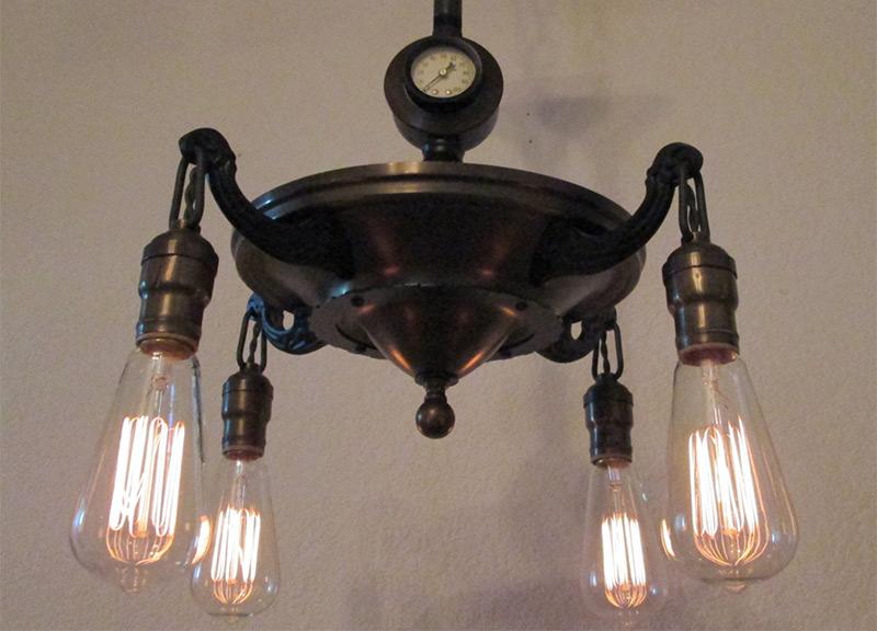 vintage steampunk hanging lights chandelier