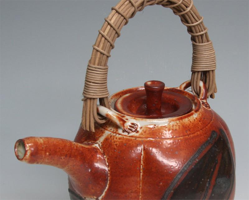 brick red teapot strainer design custom