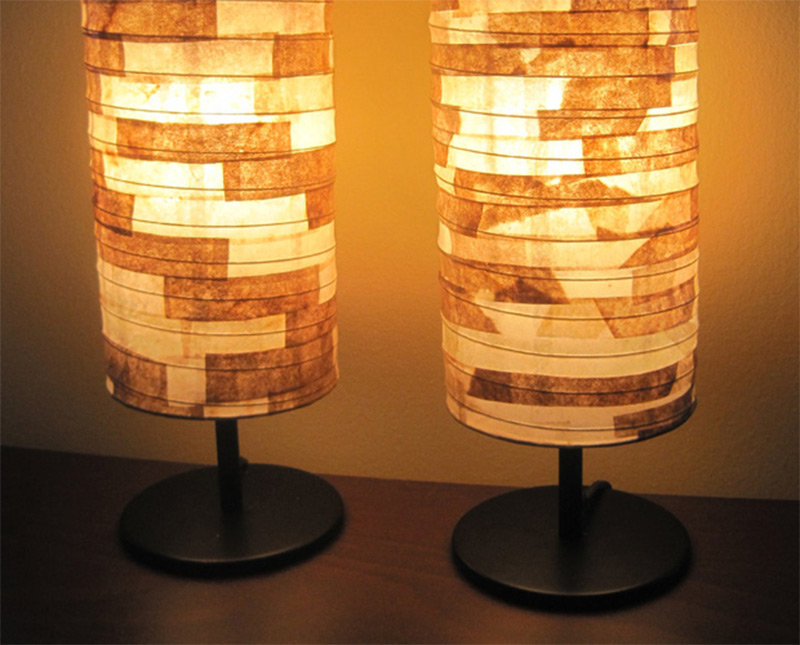 Funky handmade table lamps for your home full home living eco friendly coffee filter lampshade design handmade aloadofball