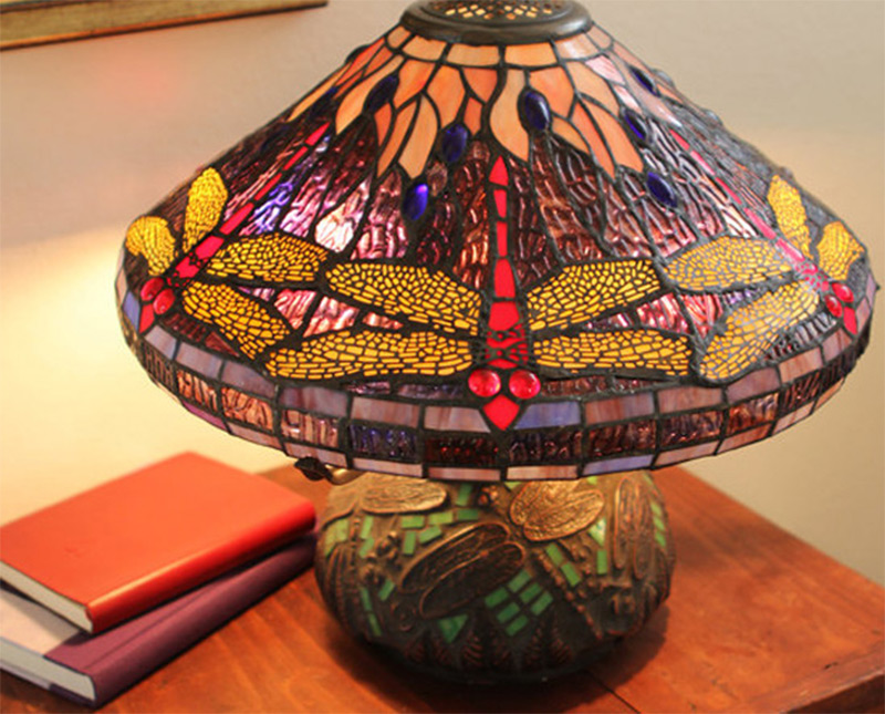 Funky handmade table lamps for your home full home living dragonfly tiffany style table lamp short stained glass aloadofball Gallery