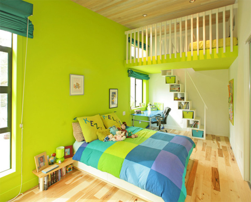 Showcase of kids bedroom interior designs full home living for Bedroom interior designs green