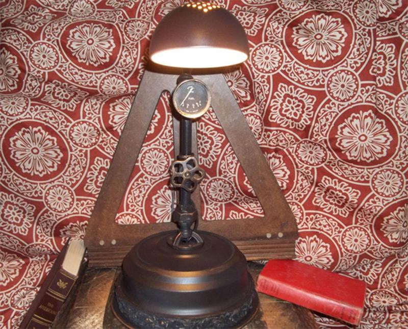 table lamp vintage parts industrial