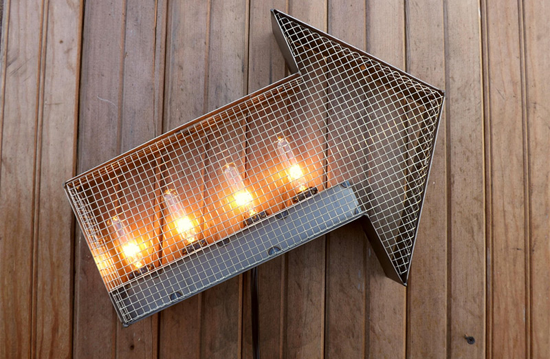 Steampunk lamps lights for interior dcor full home living hanging arrow wall lights bulbs aloadofball Images