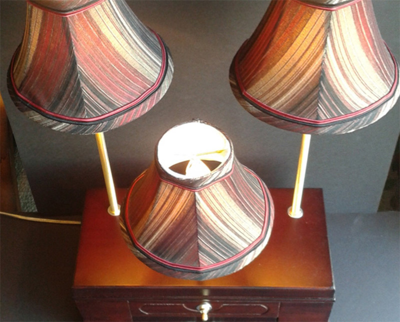 home decor triple shaded lamp with storage etsy