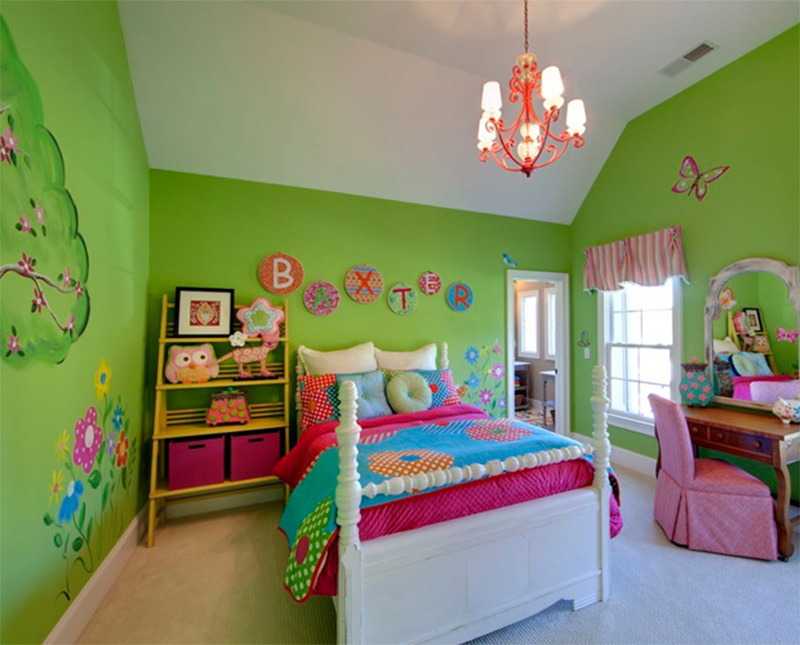 Beautiful Girls Room Green Butterflies Modern Credit To Kerri Robusto  Interiors