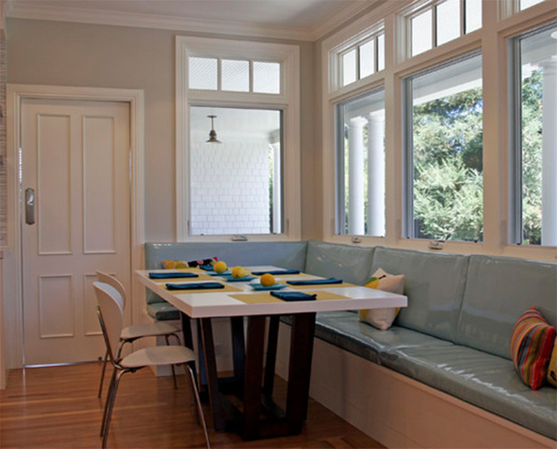 Beadboard Banquette Seating Breakfast Table Part 72