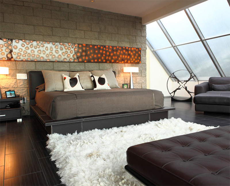 los angeles hollywood hills residence interior bedroom design