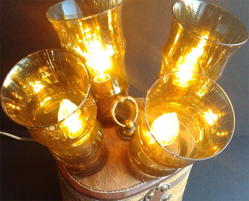 steampunk victorian bulbs table lamp