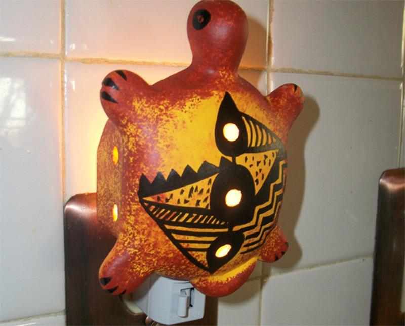 southwestern desert turtle shaped nightlight etsy