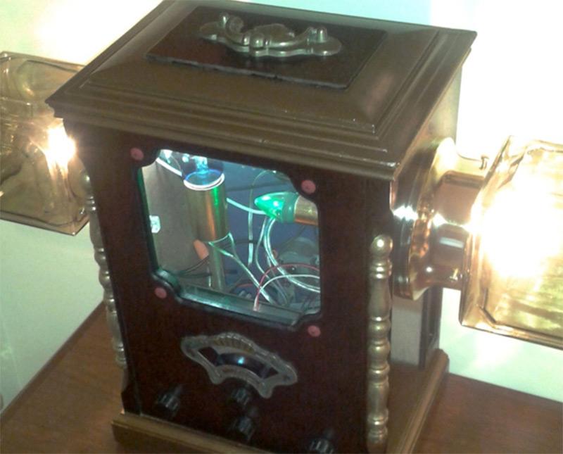 futuristic steampunk lamp light etsy