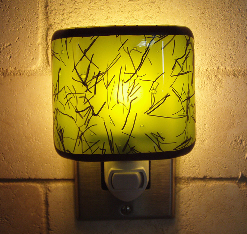 green glass pattern nightlight etsy