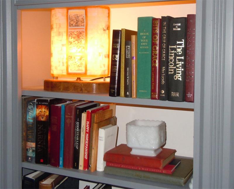 custom rectangle lamp bookshelf fitted unique etsy