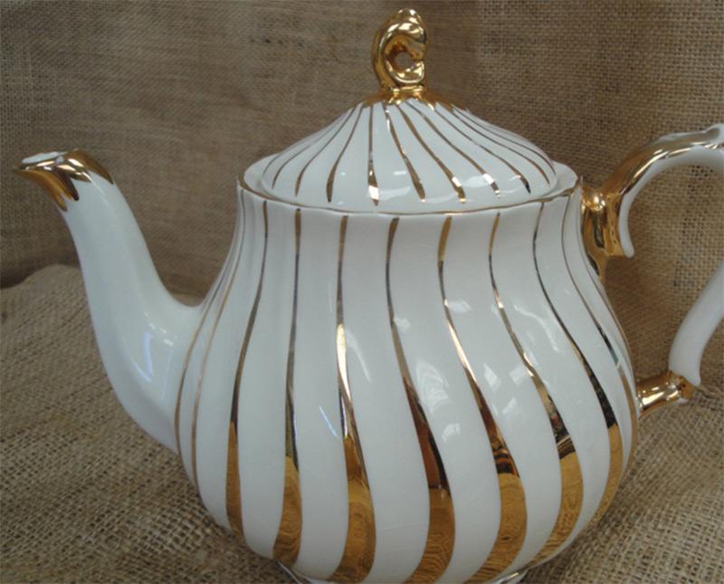 vintage sadler golden swirl china teapot etsy