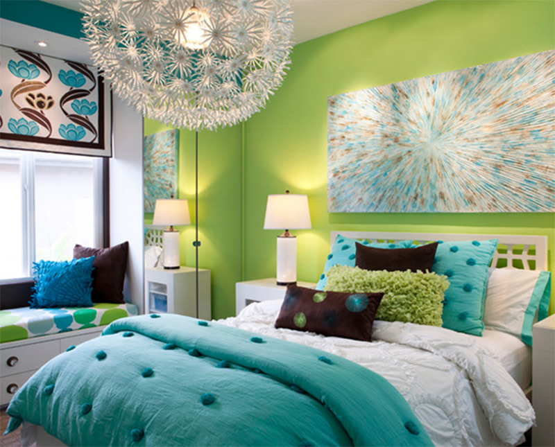 Modern Fashion. Teen Bedroom Interior Design Fashionable