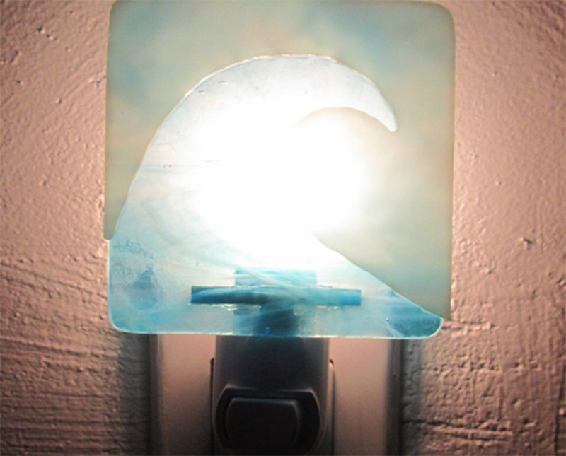 water ocean wave design pattern nightlight etsy