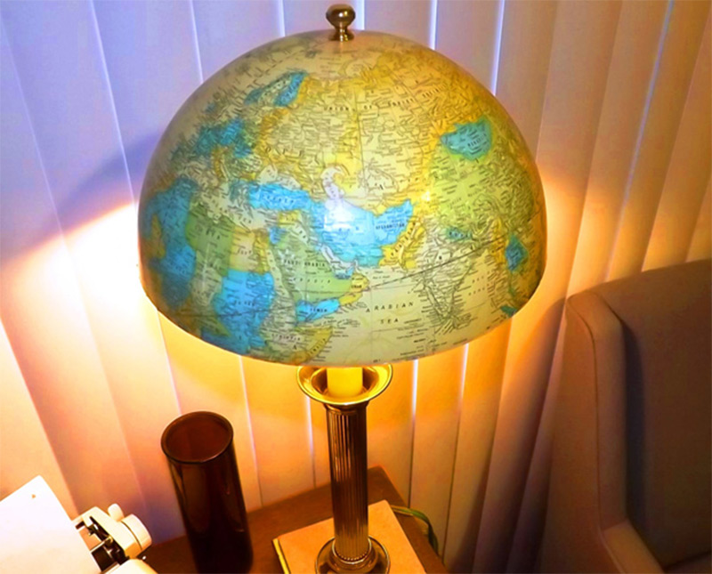 Funky handmade table lamps for your home full home living globe shade aloadofball Image collections