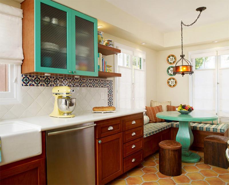 interior home design kitchen. green kitchen cabinets breakfast nook interior Interior Photos of Kitchens and Breakfast Nooks  Full Home Living