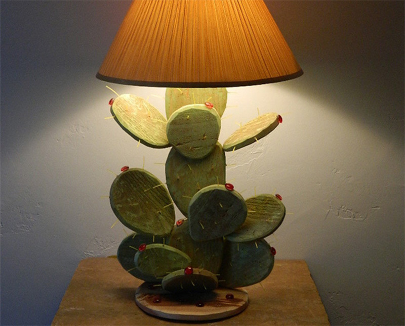 prickly pear cactus table lamp etsy design home decor