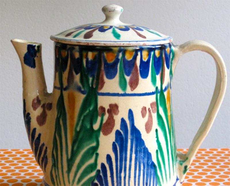 vintage primitive teapot mexico etsy custom