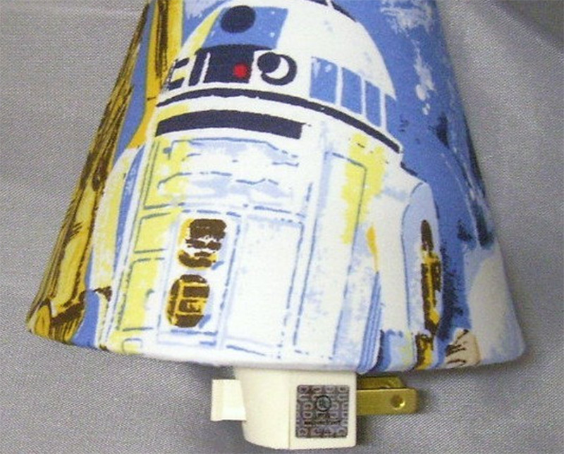 star wars r2d2 nightlight shade pattern etsy