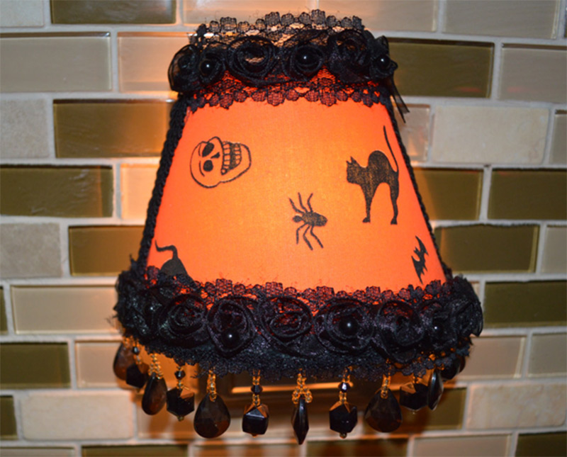 orange halloween shade nightlight pattern etsy