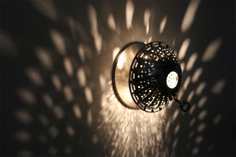 steamer utensil lamp wall sconce