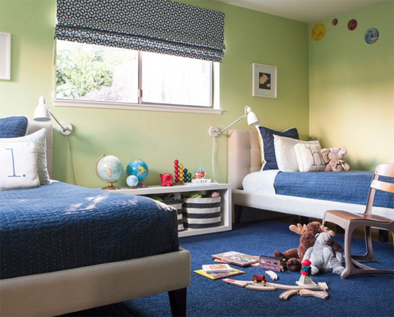 cozy san francisco bedroom blue clean for children