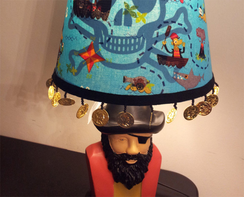 custom dubloons coins lampshade pirates water map etsy