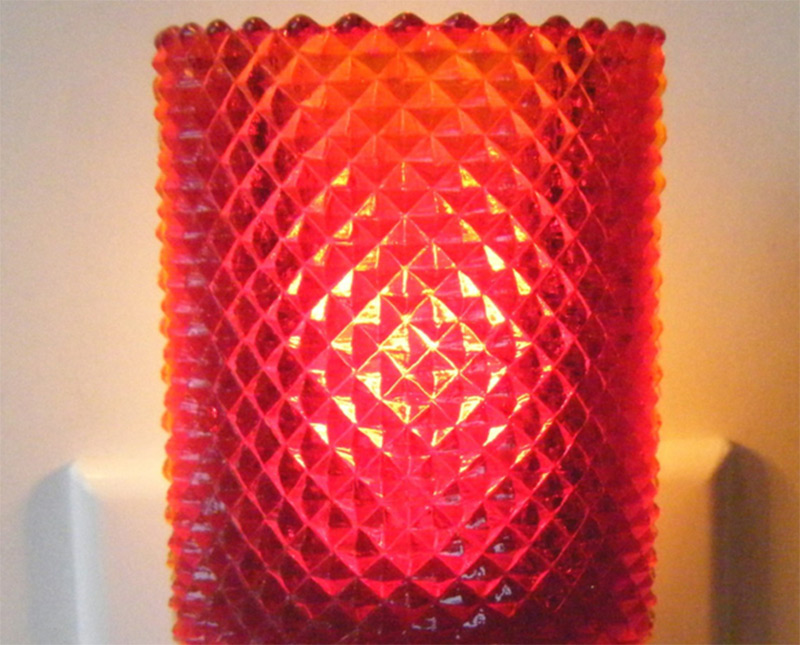 red votive candleholder design nightlight etsy