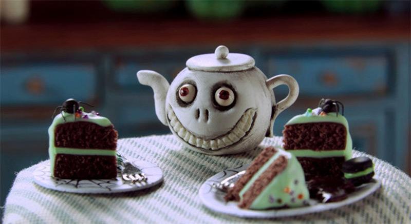 halloween grin skeleton face teapot etsy