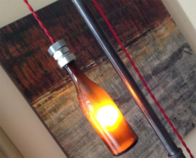 steampunk furniture room lamp floor beer etsy